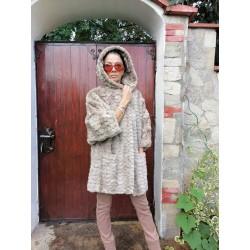 палто норка визон,  палто с качулка
